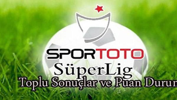 01.11.2015 Spor Toto Süper Lig Puan Durumu