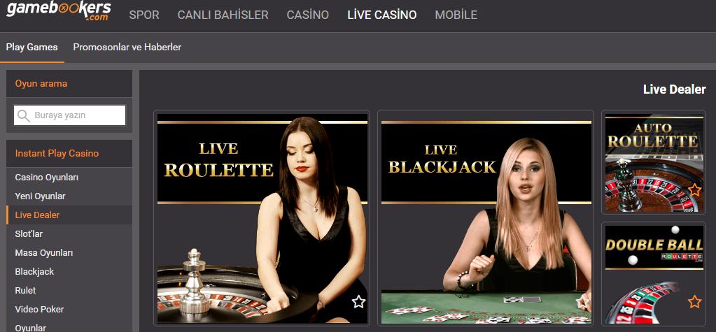 gamebookers-live-casino
