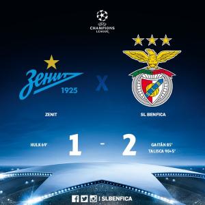 09 Mart Zenit Benfica maç özeti