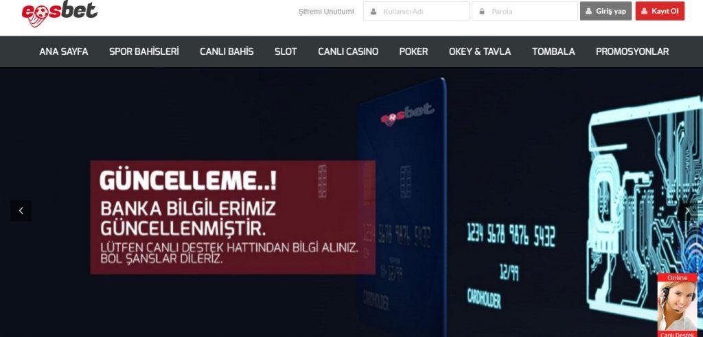 Eosbet Yeni Giriş Adresi – eosbet.io