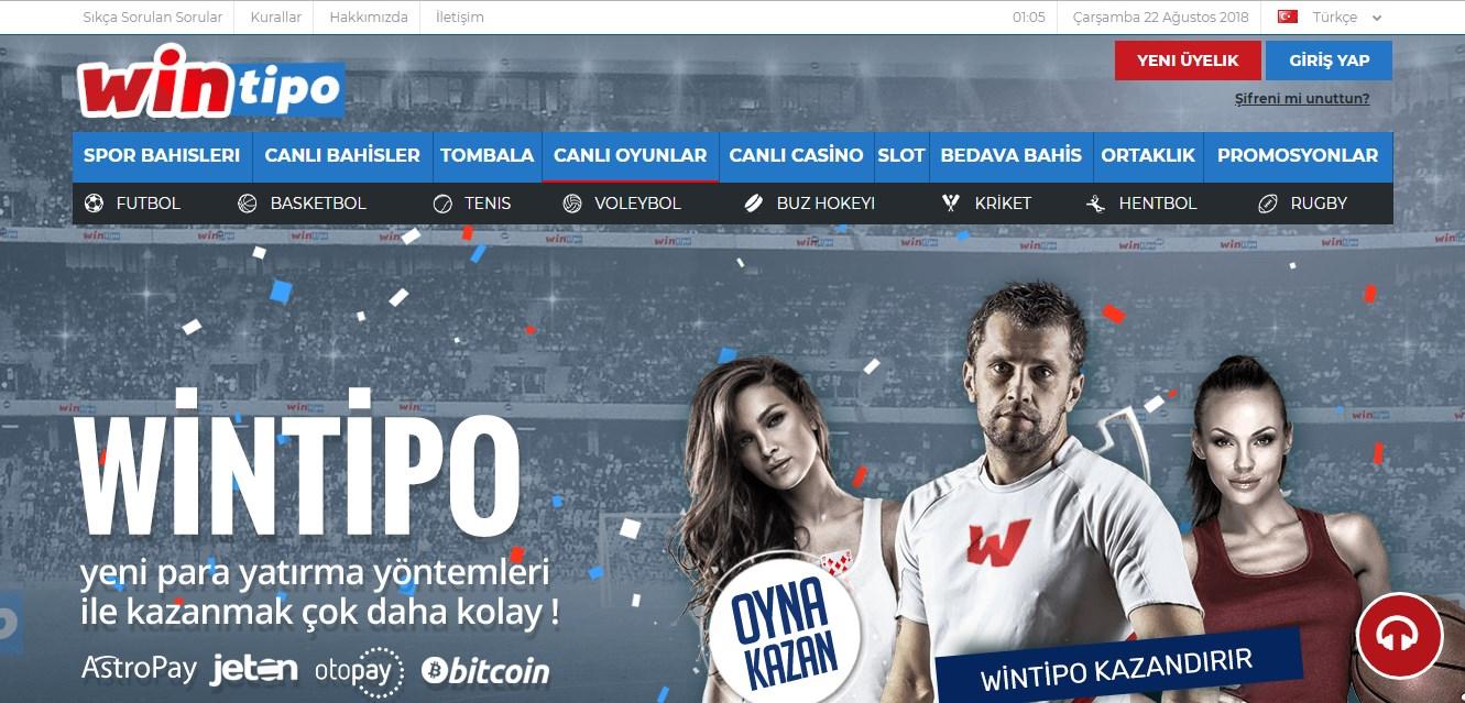 Wintipo Bahis Sitesi Tanıtım Görseli