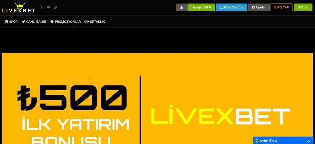 Livexbet Bahis Sitesi Tanıtım Görseli